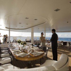 Motor yacht RM ELEGANT - Aft saloon deck